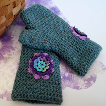 Embellished Fingerless Mitts