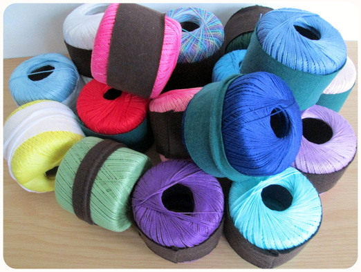 Thread Spools in Socks