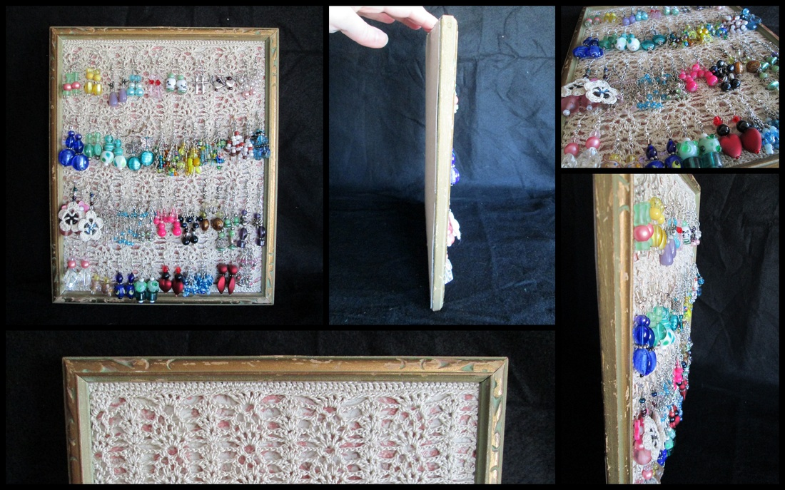 Create a Shabby Chic Crochet Lace Earring Holder