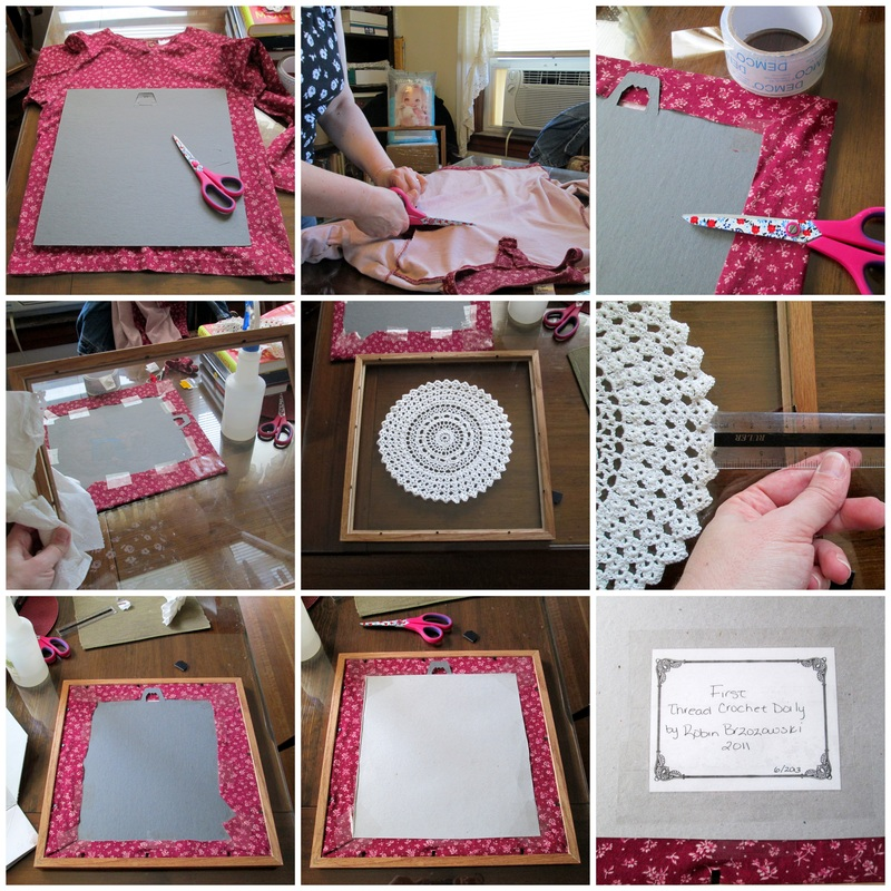 How to Frame a Doily Collage