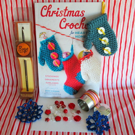 Giveaway Collage Christmas Crochet Book & Goodies