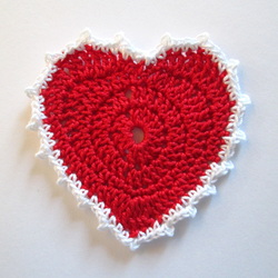 Crochet Heart with picot edging pattern